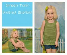 Green Tank The pattern below can be viewed for FREE or you can purchase the PDF for $1 Materials: I Love This Cotton Yarn Needle Size I 5.5 mm hook Sl st- Slip Stitch Ch- Chain Sc- Single Crochet Hdc- Half Double Crochet Cluster Stitch – Skip 1 stitch, yarn over, insert hook into stitch, pull up a loop, yarn …