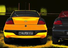 'Opel Tigra in black & yellow' created by www.Oldtimerphotography.de