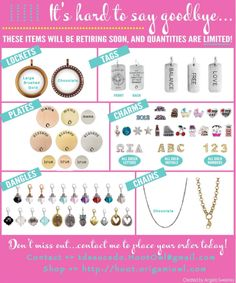 Bye Bye!! Making room for the spring release! If your must haves are on this list then you better grab them before they are gone!!