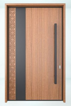 Puerta principalCloset Door Ideas-Combining elegance and comfort in your bedroom decoration is easy and affordable as well. Modern Entrance Door, Main Entrance Door Design, Modern Wooden Doors, Wooden Main Door Design, Door Gate Design, Room Door Design, Door Design Interior, Wooden Front Doors, The Doors