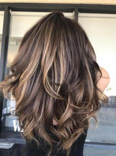 - Color, Partial Highlight and Blow-Dry Chocolate Color Melt into shades of Honey for this Beautiful Momma. Fall Hair Color For Brunettes, Partial Balayage Brunettes, Cabelo Ombre Hair, Hair Color And Cut, Hair Color For Spring, Hair Colors For Winter, Hair For Fall, Hair Color For Brown Skin, Fall Hair Cuts