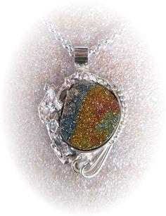 Michael Redhawk  Rainbow Pyrite P201   Silver  H 0in x W 0in