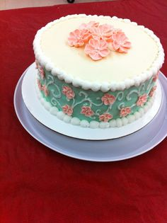 Made this in Wilton cake class course 2. Easier than it looks!
