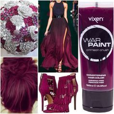 The perfect palette of #purple and #red. #Crimson Crush Hair Color #Dye. #CaliPostCo