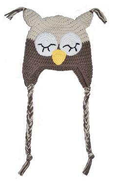 Hekla ugle lue til barn Winter Hats, Crochet Hats, Barn, Knitting Hats, Converted Barn, Barns, Sheds