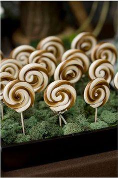 Chocolate Swirl Lollipops