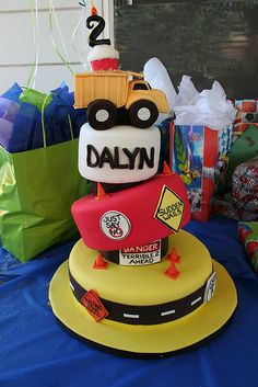 Dalyn's Construction theme by Whimsy Cakes, via Flickr