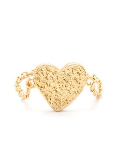 GORJANA Hammered Heart Chain Ring