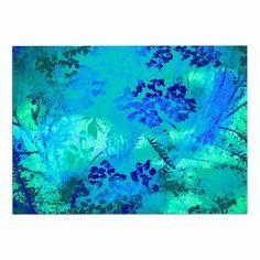 24 by 36-Inch Kess InHouse Cyndi Steen Sky on Fire Multicolor Orange Memory Foam Bath Mat 24 X 36