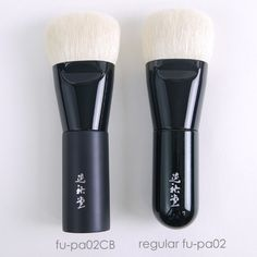 fu-pa02 CB Foundation Brush / Koyudo fu-pa Series Makeup Brush 3550yen (3834yen Tax incl. in Japan) US$ 30.94.   Release Date July 04, 2016.   Material100% Baby Goat Chest Hair (Hakutotsuho)    SizeLength: Full approx.108mm (4.25in.)   Hair:27mm (1.06in.)  Thickness approx. 21mm (0.82in.) This is CDJapan Beauty's limited-edition fu-pa02. The size of the top of the brush and the materials used are the same as in the regular fu-pa02.