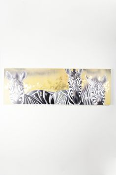 three zebras oil painting  $214.00