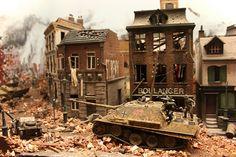 Miniature World WWII diorama