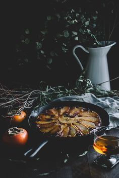 Drunken Autumn Upside-down Cake
