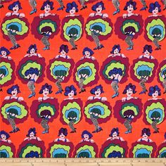 Brandon Mably Spring 2017 You Can Can Red from @fabricdotcom  Designed by Brandon Mably for Free Spirit, this cotton print fabric features colorful can can girls doing their thing. Perfect for quilting, apparel and home decor accents. Colors include pale pink, black, maroon, orange, neon green and shades of blue and purple.