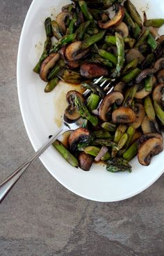 Sauteed Asparagus and Mushrooms + A New Outlook - The Wheatless Kitchen
