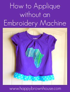 How to applique without an embroidery machine