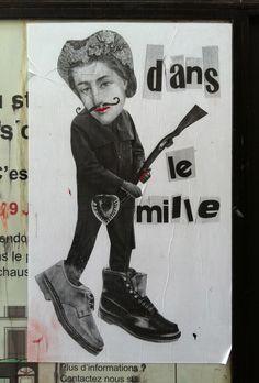 Paris street paste up