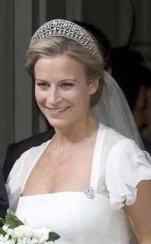 Lady Rose Windsor, daughter of Duke and Duchess of Gloucester wearing Ivegh Tiara on her Wedding Day