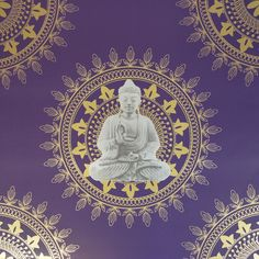 BonBon Buddha Wallpaper Purple / Gold