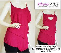 3 Layered Nursing Breastfeeding Singlet TOP NEW XL XXL Maternity Wear Plum   eBay