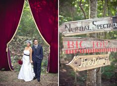 carnival wedding in the woods