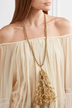 Rosantica - Pop Gold-tone Tinsel Necklace - One size