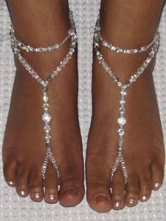 LIGHTBLUE Plage Cheville Cristal Double Couche Cheville Bracelet Accessoires de Pied Bijoux Bijoux pour Femmes