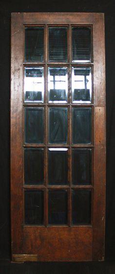 Restaurant Or Kitchen Antique Swinging Door With Bevelled Glass Oval Window Restaurant