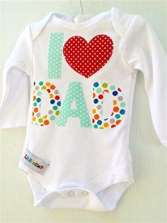 Unisex Newborn New Dad 1st Fathers Day Fathers Day Dad Onesie Singlet  | Li'l Birdie Shop | madeit.com.au