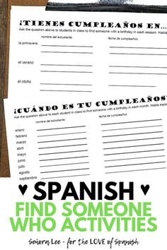 Get Students Speaking Spanish Middle School Spanish, Elementary Spanish, Teaching Spanish, Cooperative Learning Activities, Spanish Activities, Seasons Activities, Date In Spanish, How To Speak Spanish, Spanish Lesson Plans