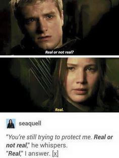 The Hunger Games Igrzyska Śmierci Mockingjay Kosogłos Real or not real prawda czy fałsz Katniss Peeta Peetniss