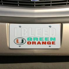 Miami Hurricanes Bleed Team Laser Tag - Silver/White/Green/Orange