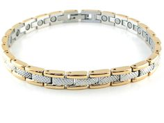 Magnetic Anklet Gold & Silver Stainless Steel #35