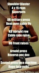 shoulder blaster workout - sculpt strong sexy shoulders! - Melanie ash Fitness