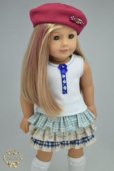 American girl doll clothes OOAK 3 pieces items by PurpleRoseNY