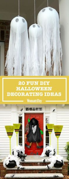 Turn you entire home into a haunted escape with these spooky DIY Halloween decorations. I kids club I Halloween I Kids I fun Halloween Snacks, Spooky Halloween, 50 Diy Halloween Decorations, Diy Halloween Dekoration, Hallowen Ideas, Fairy Halloween Costumes, Halloween Party Supplies, Holidays Halloween, Halloween Crafts