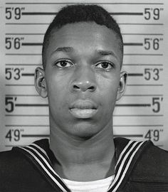 John Coltrane as a young Navy sailor in his dress blues, 1945