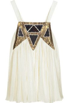 sass and bide cream brown and gold embellished top