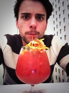 Jack Falahee and his drink