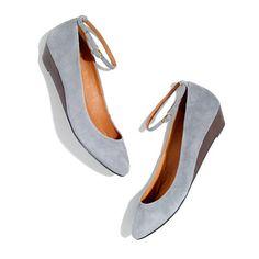 ankle strap mini wedge / madewell