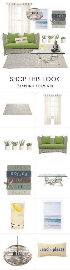 """beach, please."" by notacoolname ❤ liked on Polyvore featuring interior, interiors, interior design, home, home decor, interior decorating, Royal Velvet, Allstate Floral, David Francis Furniture and Pottery Barn"