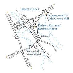Location of Katinen Manor in Hämeenlinna