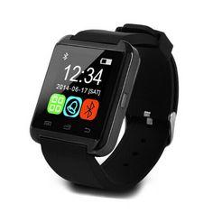 Redsun Piano Miroad U8 U Smart Watch Bluetooth Watch Schedule Passometer Alarm for Iphone Samsung Nokia Mobiles (Black)