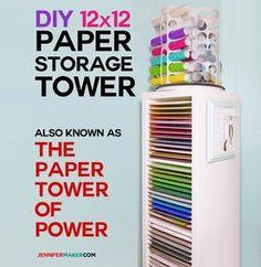 12x12 Vertical Sbook Paper Storage Organizer Diy