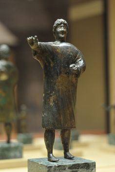 Speaker, Roman copper alloy statue of a man wearing a tunic, 1st century BC-1st century AD. Courtesy & currently located at the Orléans Historical and Archaeological Museum, France. Photo taken by Croquant