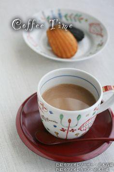 色絵カフェオレカップ・正木春蔵:和食器 japanese tableware