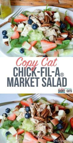 Do you love Chick-Fil-A's Market Salad? Try this Copy Cat Chick-Fil-A Market Salad Recipe at home! Less than 5 minutes to perfection! So simple! #Paleo