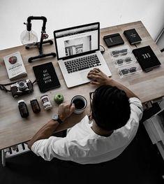 Fashion and Lifestyle Setup Desk, Home Office Setup, Room Setup, Office Workspace, Home Office Design, House Design, Pc Setup, Little Bit, Workspace Inspiration