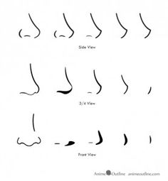how to draw anime and manga noses