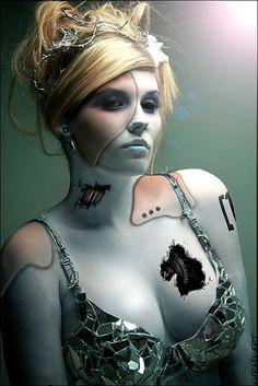 Cyberpunk Art, Cyborg Girl :@